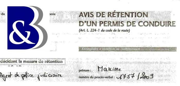 avis de rétention